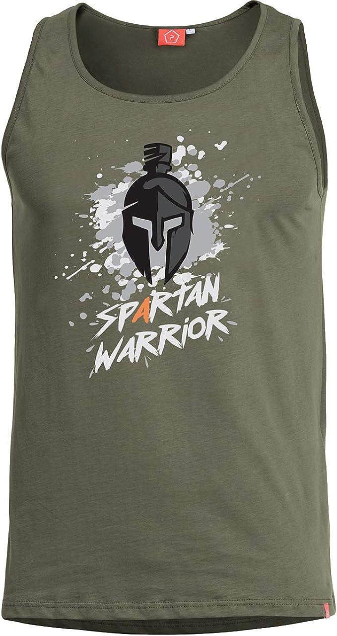 PENTAGON Hombre Astir Camiseta sin Mangas Spartan Warrior Oliva