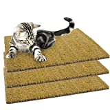 3 Pack Set of 18' x 13' Natural Recessed Cocoa Coir Cat Scratching Mats Refill Pads