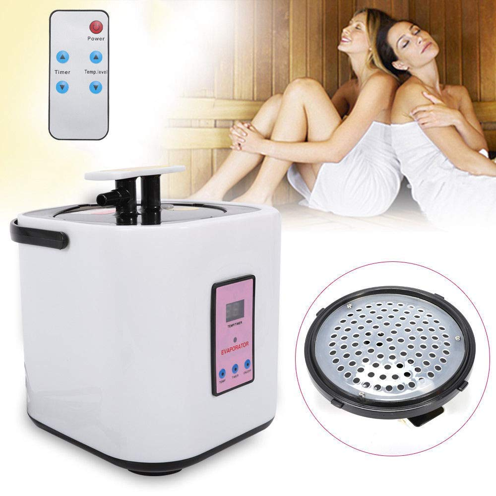 TFCFL Saunas Steamer Pot 2L Home Shower SPA Portable Steam Sauna Suit Generator White 110V by TFCFL