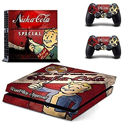 CloudSmart Fallout 4 For Sony Playstation 4 Skin Sticker Vinyl Stickers for PS4 Console x1 Controller Skins x2 - S.P.E.C.I.A.L. Nukacola Vault Boy Approval by CloudSmart