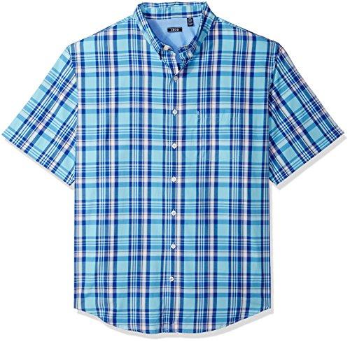(IZOD Men's Big and Tall Saltwater Breeze Long Sleeve Shirt, gulf stream, 2X-Large)