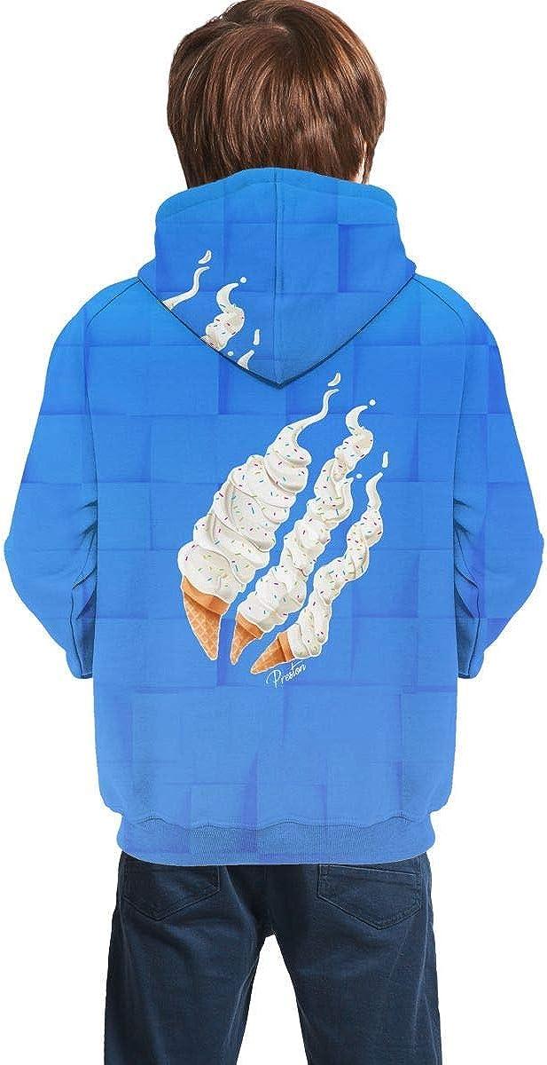 ABDDA Kids Fashion Preston Playz Slime Hoodie Casual Long Sleeve Sweatshirts for Boys and Girls