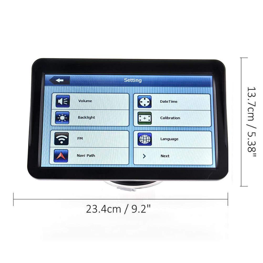 likeitwell GPS para El Coche-9-pulgadas De Alta Definici/ón Incluye Asistencia-GPS De Navegaci/ón por Sat/élite De Radares Alertas Y PDI Carril con Actualizado Mapa Global
