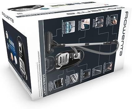 Rowenta Silence Force Extreme - Aspiradora, 750 W, 4.5 L, 66 dB, negro/plata: Amazon.es: Hogar