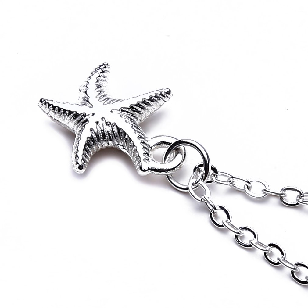 Meolin Starfish Necklace with Adjustable Chain for Women and Girls,Starfish,46cm