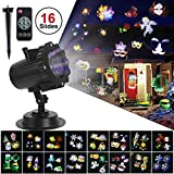 Halloween Projector Lights, TONBUX Christmas Lights Waterproof Displays Snowfall Show Rotating Projection Snowflake with Wireless Remote for Xmas Halloween Party Wedding and Garden Decorations