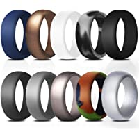 StyleZ 10Pcs Men Women Silicone Rings Outdoor Sport Wedding Flexible Rubber Band