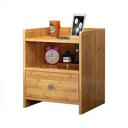 Amazon.com: Emma Home Nightstand Bamboo Storage Cabinets ...