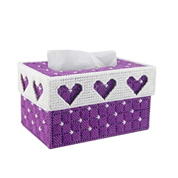 Jiaa Productos para el hogar con una Apariencia Moderna y Elegante Diseño de Punto de Cruz Mano de Dormitorio Sin perforación Estéreo cartón Bordado Toalla ...
