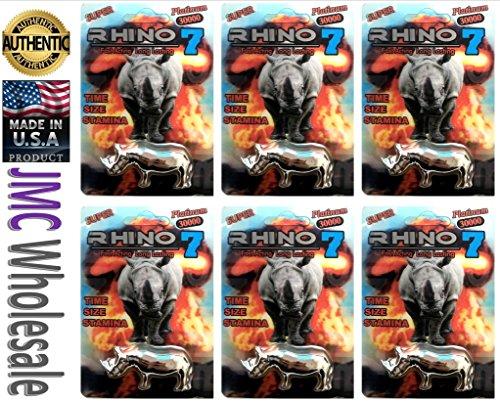Rhino Best Sexual Male Performance Enhancement Pill Variety Pack (Rh7TSilver 6PIlls)