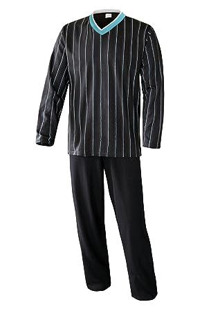 Herren Schlafanzug lang in Verschiedenen Ausführungen Herren Pyjama lang Hausanzug Langarm Herren aus 100% Baumwolle Model Mo