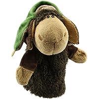 Marioneta - TOOGOO(R)Marionetas de mano de animal de felpa de terciopelo lindo Disenos elegantes Juguete ayuda de aprendizaje del nino (Lei Feng Ovejas) Gris