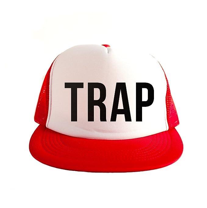 Trap Cool Swag Hip Hop impresión 80s Style Snapback Sombrero Gorra Tapa Rojo: Amazon.es: Ropa y accesorios