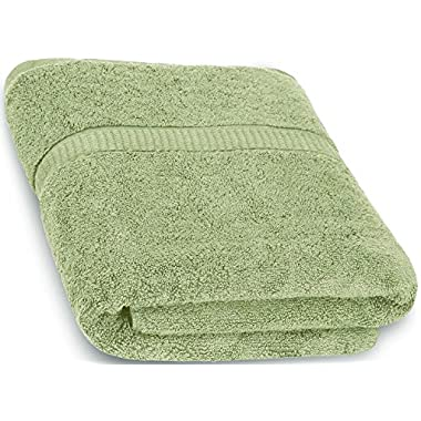 Luxury Bath Sheet Towel (Sage Green; 35 x 70 Inch) Cotton Extra Large Beach Bath Towels, Machine Washable, Hotel Quality, Super Soft and Highly Absorbent Towels By Utopia Towels