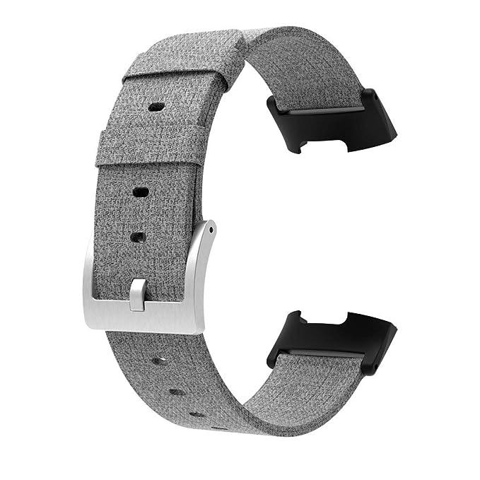 para Fitbit Charge 3,Darringls Lienzo Correas Relojes Ligero Ventilar Pulsera de Reemplazo: Amazon.es: Ropa y accesorios