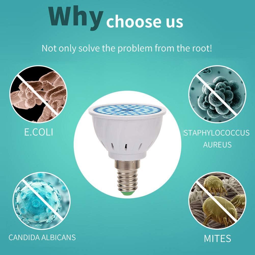 E14 GU UVC 48 LED Sterilizzatore Lampada Lampadina per disinfezione germicida domestica