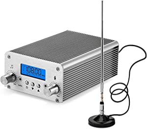 15W FM Transmitter,Fm Transmitter for Church,Fm Broadcast Transmitter, 87~108MHz FM Radio Transmitter High-Fidelity Audio FM Transmitter, Transmission Distance of 1000M in The Open Place