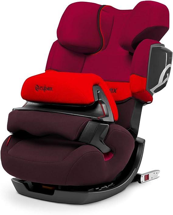 Cybex Silver Pallas 2-Fix, Seggiolino Auto 2 in 1 per Bambini, adatto per auto con e senza ISOFIX, Gruppo 1/2/3/9-36 kg, dai 9 Mesi ca. ai 12 Anni ca., Rosso (Rumba Red)