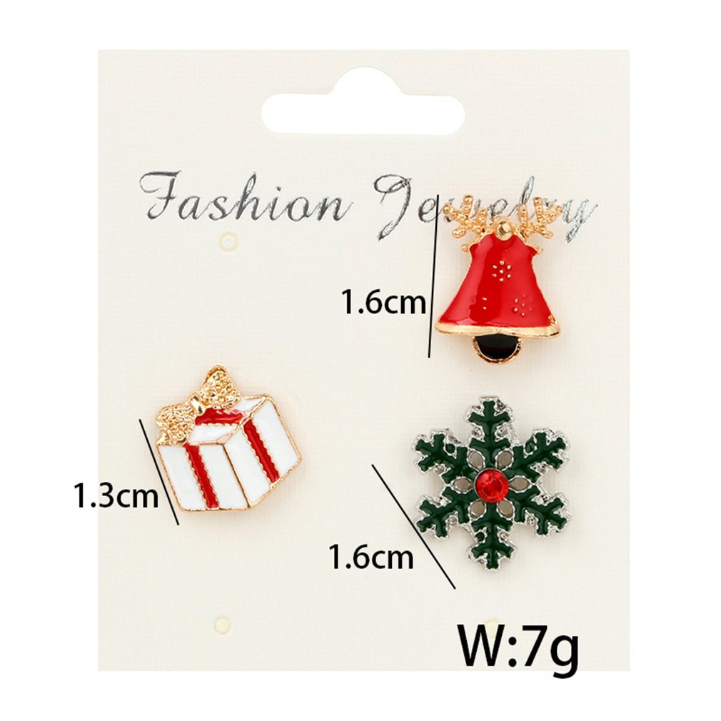 GUAngqi Christmas Brooch Pin Set Alloy Dripping oil Boot, Deer, Snowman, Christmas Tree, Gloves Christmas Jewelry Decor,Picture 2 by GUAngqi (Image #2)