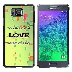 Paccase / SLIM PC / Aliminium Casa Carcasa Funda Case Cover para - Love What You Do Balloons Vignette Retro - Samsung GALAXY ALPHA G850