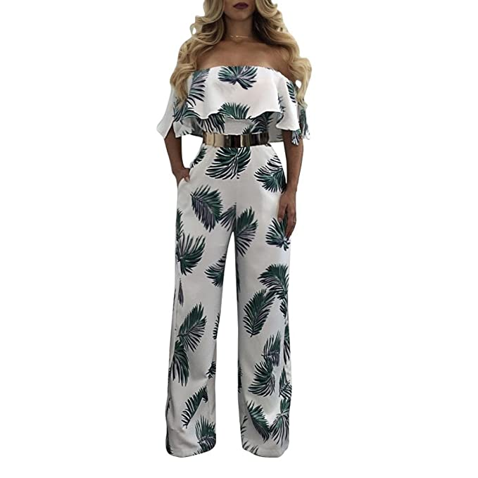 904733f853e Monos Mujer ❤️ Amlaiworld Mujer Mono Jumpsuits Elegant floral