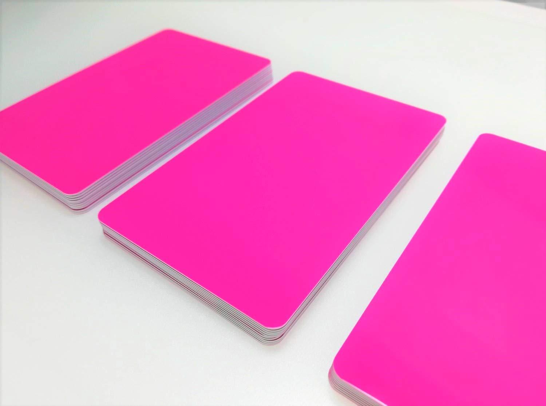 5-500 St/ück 10 Kartendrucker Rohlinge blanko NEU! Premium Plastikkarten//PVC Karten Gr/ün 500