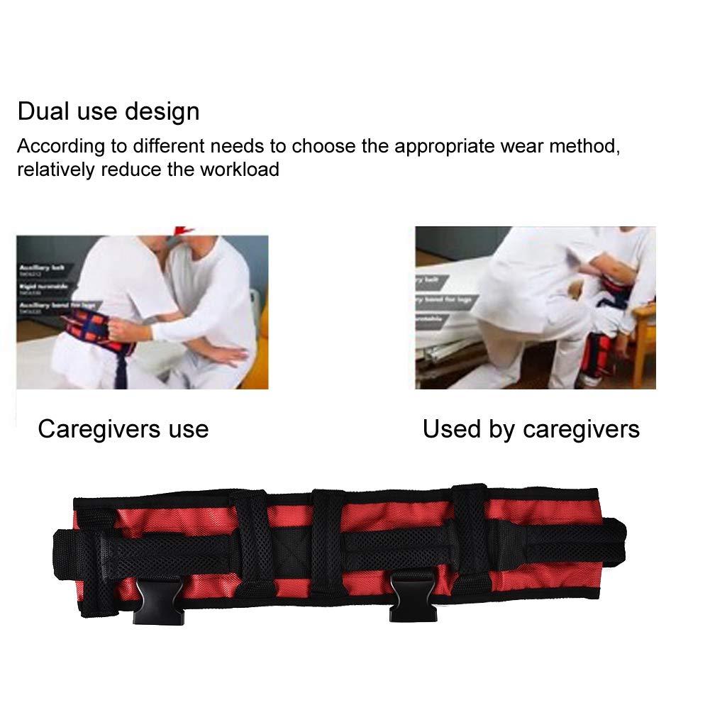 Training belt for rehabilitation, Transfer belt with belt loop, Auxiliary rehabilitation belt, Walking rehabilitation belt for leg rehabilitation(L) by TMISHION (Image #4)