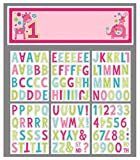 Amscan One Wild Girl 1st Birthday Square Dinner Pink Paper 10'' x 10'' Pack 8 Childrens Party Plates
