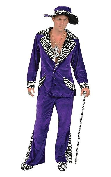 Amazon.com: Orion disfraces disfraz de hombre morado Pimp y ...