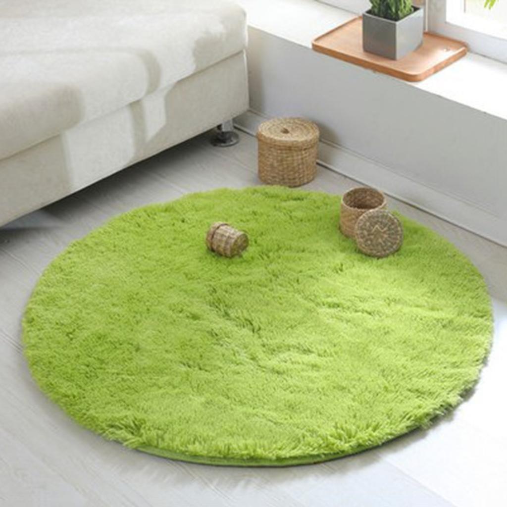 EFG SJY Capelli di seta tappeto tondo Velluto corallo tappeto computer cuscini tenda tappeto cestino tappeto, blue, 60 * 60cm DTY