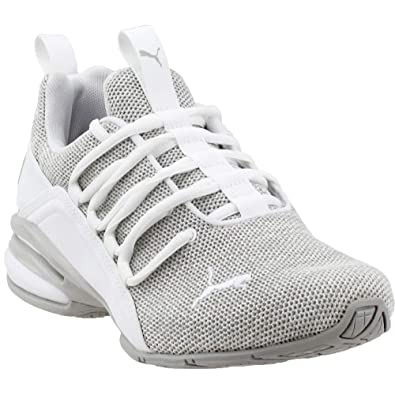 Amazon.com  PUMA Axelion Jr Boys  Youth Running 4 M US Big Kid White-Grey   Shoes 5a081d829