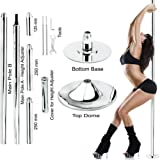 New Pro Portable Stripper Fitness Exercise Spin Spinning Professional Dance Dancing Strip Spinning Pole 45mm up to 10FT Height