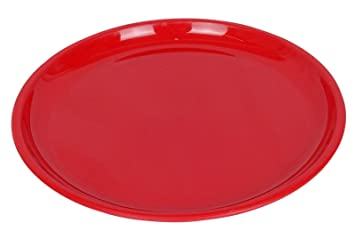 Saflona Microwave Safe PP Plastic Round Red Dinner Plates Food Tray  sc 1 st  Amazon.com & Amazon.com | Saflona Microwave Safe PP Plastic Round Red Dinner ...