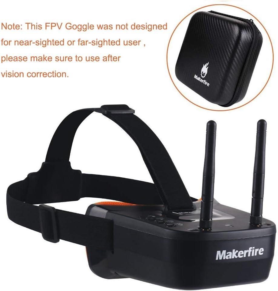 Makerfire 5.8ghz Mini Fpv Goggles 3 Drone (xam)