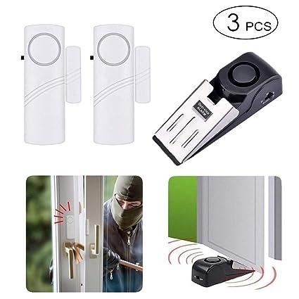 Amazon.com: Tope de puerta y alarma inalámbrica de seguridad ...