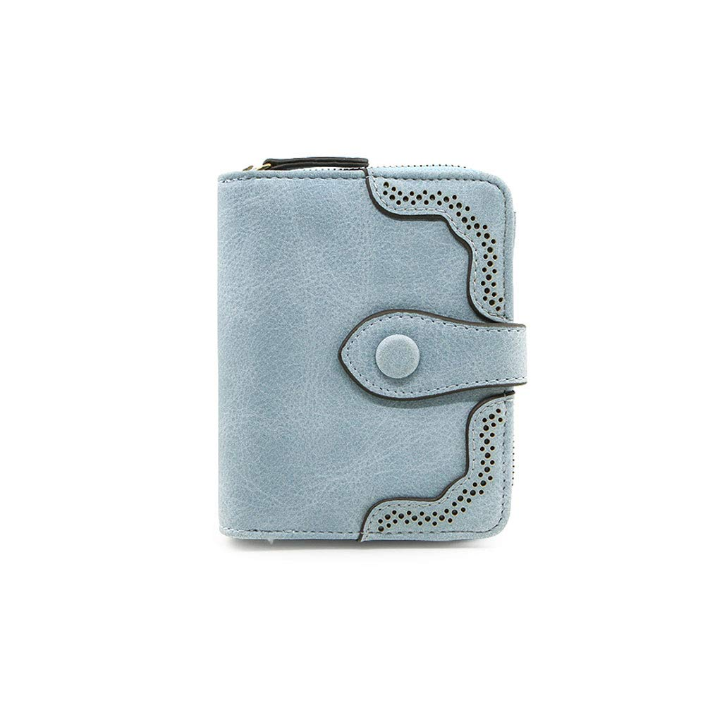 Women's Wallet Short Personality MultiFunction Change Card Wrapper Wallet (color   B, Size   4  5 inches)