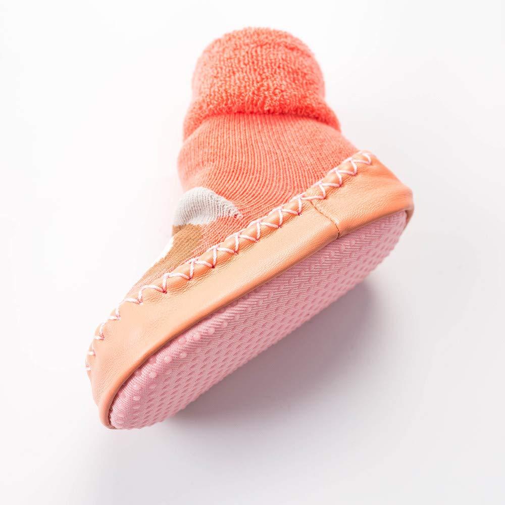 NUWFOR Newborn Baby Boys Girls Cartoon Cute Warm Floor Socks Anti-Slip Baby Step Socks(Pink,6-9Months by NUWFOR (Image #4)