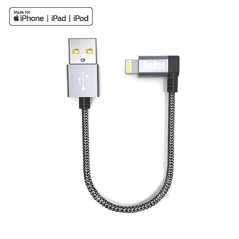 Cable Cargador para iPhone de 0,2 m, Color Gris 0.2m Gris ...