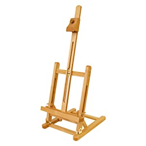 "US Art Supply Small Tabletop Studio H-Frame Easel - 21-1/4"" Tall"