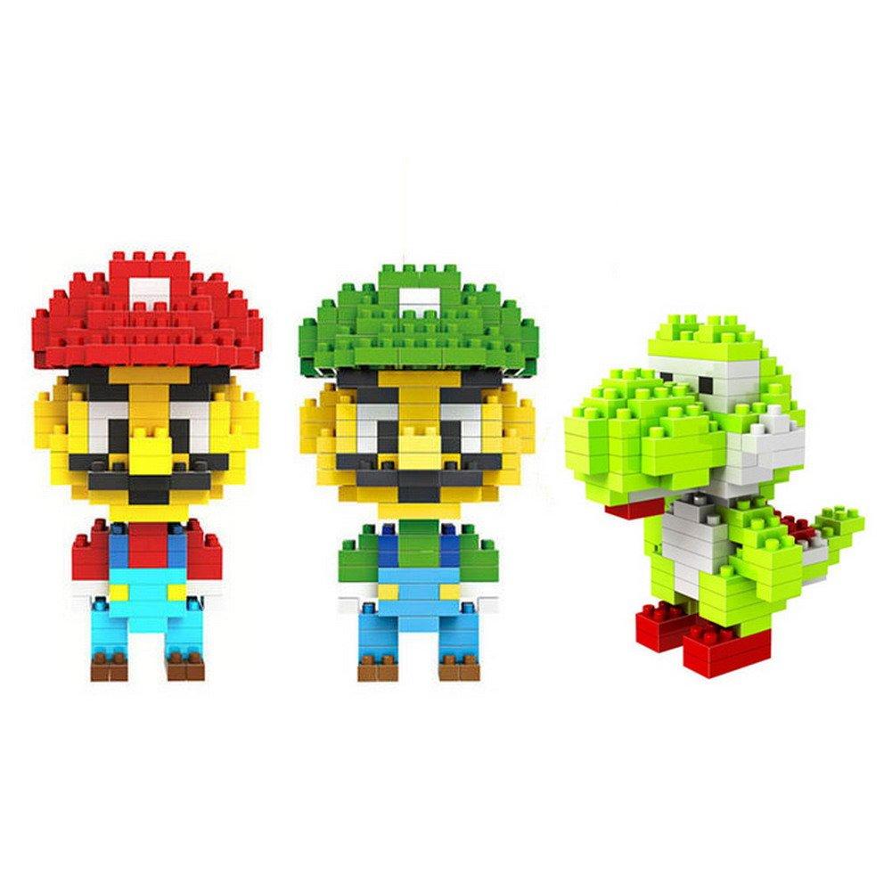 Loz 3Box Diamond Block Mario Luigi Yoshi Toys Compatible Nano Block Parent-Ch.. 10
