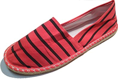 Striped Espadrilles - Spanish Alpargatas - Slip On - Deck Shoes - Canvas - Assorted Colors