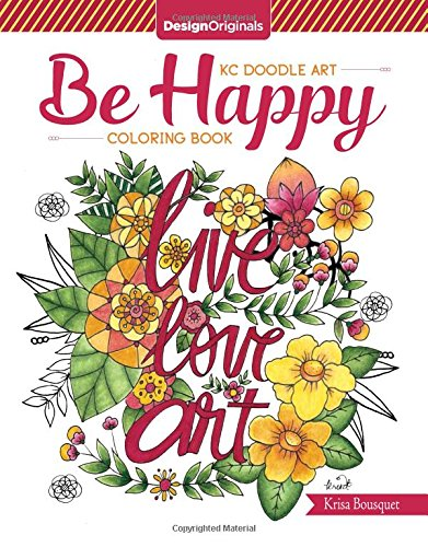 KC Doodle Art Be Happy Coloring Book