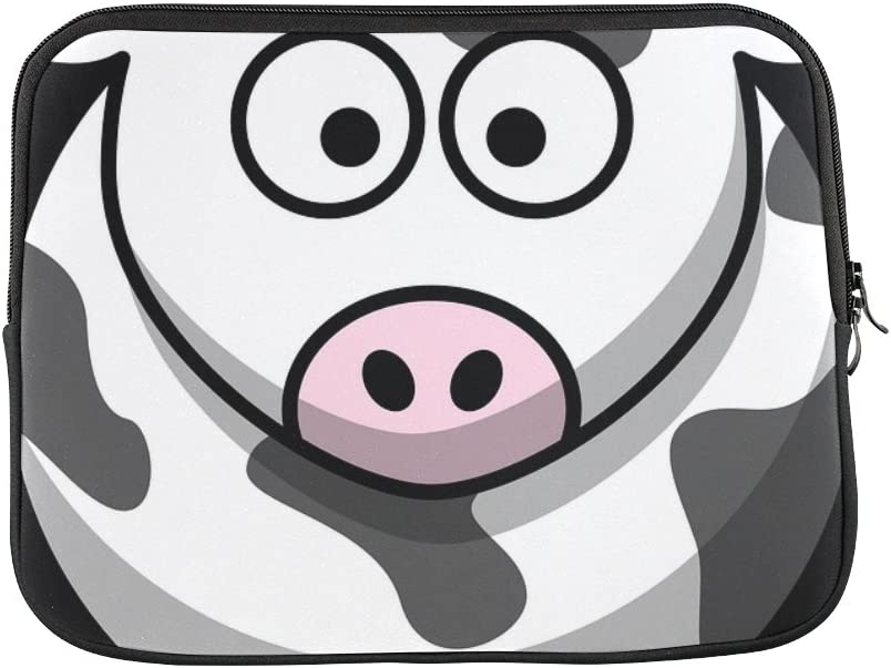 "Design Custom Cow Milk Farming Animal Eyes Farm Cattle Milking Sleeve Soft Laptop Case Bag Pouch Skin for MacBook Air 11""(2 Sides)"