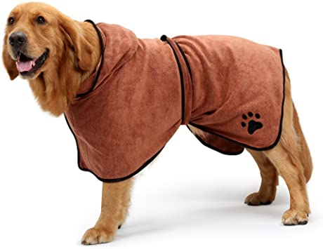 BONAWEN Dog Bathrobe Soft Super Absorbent Luxuriously