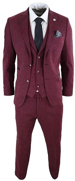 Amazon.com: TruClothing.com - Traje de lana para hombre, 3 ...