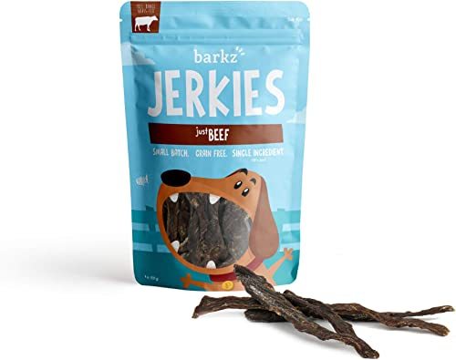 Barkz Jerkies – Jerky for Dogs – Single-Ingredient Chicken, Beef, Pork, Venison – Made in USA