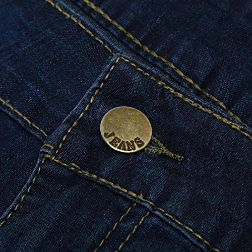 Ashop Pantaloni Vita In Denim Alta Fit Strappati A Blu Jeans Skinny Donna Scuro Jeans Slim Fit Stretch qwIHvtp