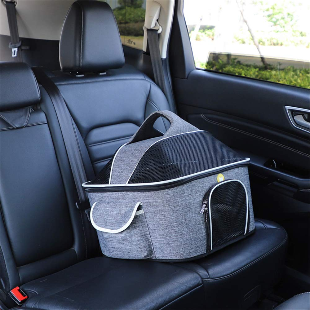 QZQWANA Multi-functional Folding Pet Puppy Dog Carrier Dog Cat Car Seat Basket Mat Cage Safe Carry Seat Bag Pet Shoulder Bag Carrier