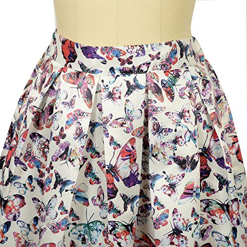 Fleurs Swing Longue mi Taille Impression lgantes Femmes Oudan Montr Femmes Line A Haute Jupe Maxi Jupe Comme x7BTnwOqI
