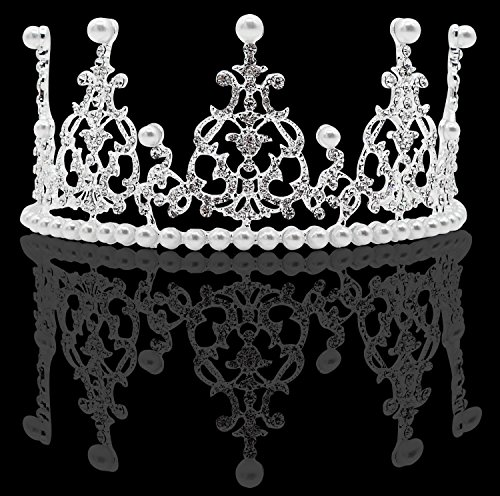 [Bridal Prom Hair Accessory Tiara Crown for Wedding Special Occasion] (Beauty Pageant Queen Costume)